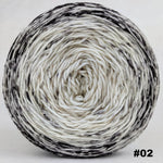 Knitcircus Yarns: Cookies and Cream 150g Impressionist Gradient, Greatest of Ease, choose your cake, ready to ship yarn