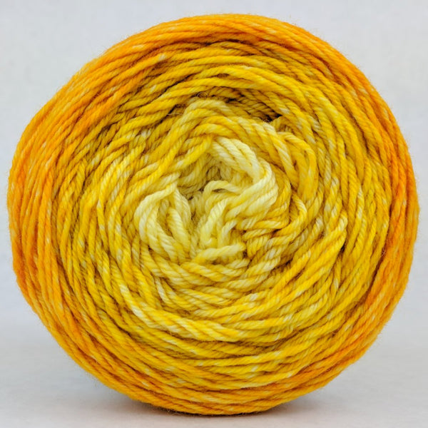 Knitcircus Yarns: All the Bacon and Eggs You Have 100g Chromatic Gradient, Divine, ready to ship yarn