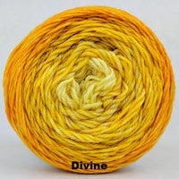 Knitcircus Yarns: All the Bacon and Eggs You Have Chromatic Gradient, dyed to order yarn