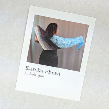 Pattern - Eureka Shawl, by Jaala Spiro, ready to ship - SALE