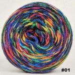 Knitcircus Yarns: Renegade Unicorn 100g Abstract, Corriedale, choose your cake, ready to ship yarn - SALE