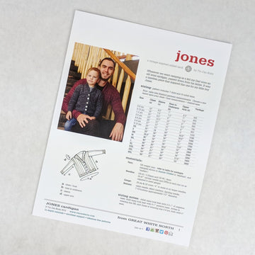 Pattern - Jones, by Tin Can Knits, ready to ship