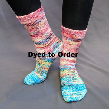 Knitcircus Yarns: Imaginary Best Friend Impressionist Gradient Matching Socks Set, dyed to order yarn