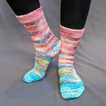 Knitcircus Yarns: Imaginary Best Friend Impressionist Matching Socks Set (medium), Greatest of Ease, choose your cakes, ready to ship yarn