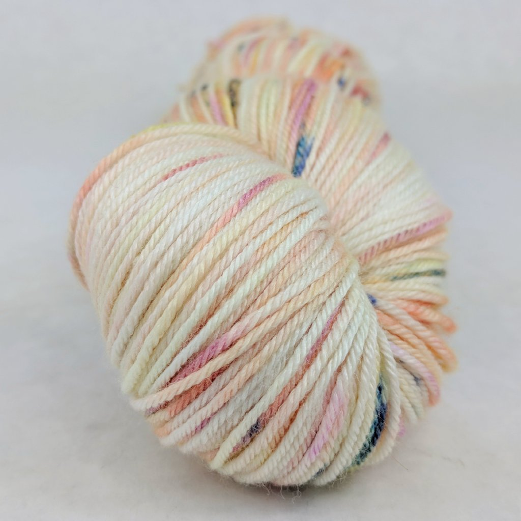Easy Peasy Lemon Squeezy 100g Speckled Handpaint skein, Parasol, ready to ship