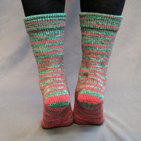 Knitcircus Yarns: Under the Mistletoe Gradient Striped Matching Socks Set, dyed to order yarn