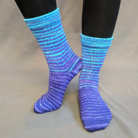Indigo Montoya Gradient Striped Matching Socks Set (medium), Greatest of Ease, ready to ship