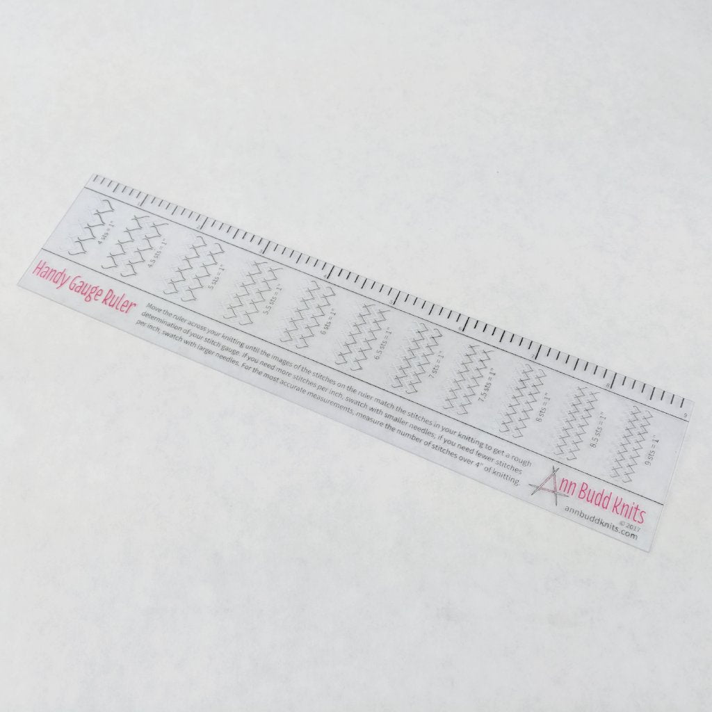 Ann Budd Knits Stitch Gauge Ruler Ready To Ship Best Seller