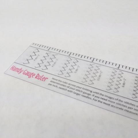 Ann Budd Knits Stitch Gauge Ruler, ready to ship - SALE - SECONDS