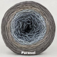 Knitcircus Yarns: Have Fun Storming the Castle Panoramic Gradient, dyed to order yarn