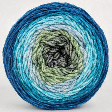 Knitcircus Yarns: Thanks For All The Fish 100g Panoramic Gradient, Divine, ready to ship yarn