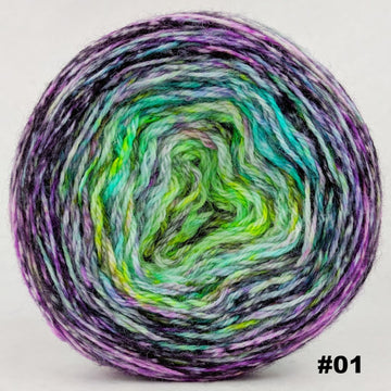 Knitcircus Yarns: Electric Mayhem 150g Impressionist Gradient, Corriedale, choose your cake, ready to ship yarn - SALE