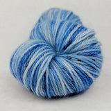 Owl Post 100g Speckled Handpaint skein, Corriedale, ready to ship