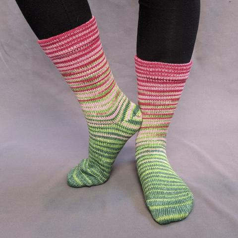 Watermelon Gradient Striped Matching Socks Set (medium), Greatest of Ease, ready to ship