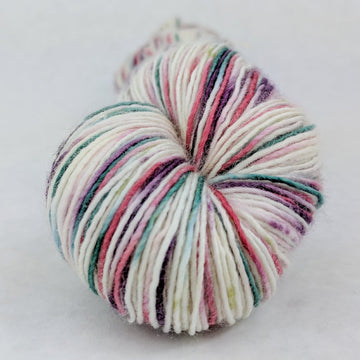 Knitcircus Yarns: Sugar Plum Fairy 100g Speckled Handpaint skein, Spectacular, ready to ship yarn