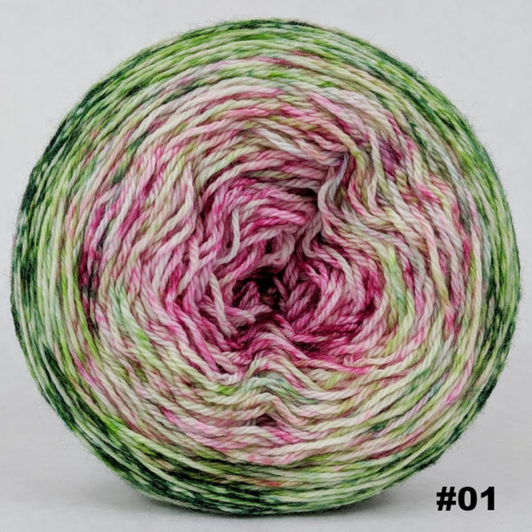 Knitcircus Yarns: Holly and Ivy 150g Impressionist Gradient, Opulence, choose your cake, ready to ship yarn