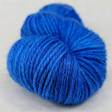 Blue Radley 100g Kettle-Dyed Semi-Solid skein, Corriedale, ready to ship