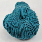 Late Night Blues 100g Kettle-Dyed Semi-Solid skein, Greatest of Ease, ready to ship