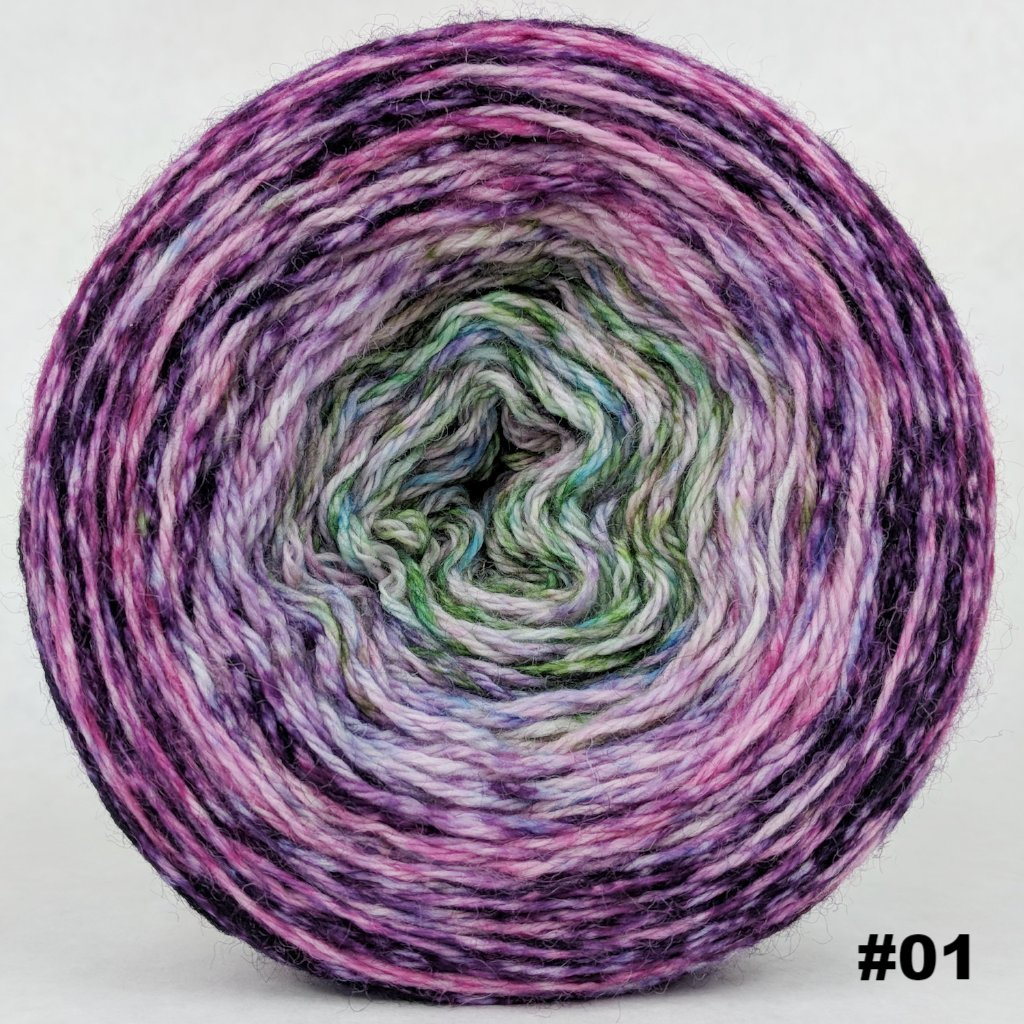 Many Happy Returns 150g Impressionist Gradient, Corriedale, choose your cake, ready to ship