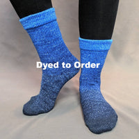 Knitcircus Yarns: Blue-nique Chromatic Gradient Matching Socks Set, dyed to order yarn