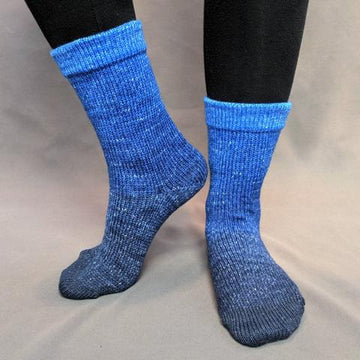 Knitcircus Yarns: Blue-nique Chromatic Gradient Matching Socks Set (large), Greatest of Ease, ready to ship yarn