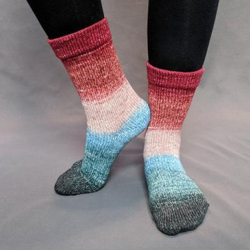 Knitcircus Yarns: Sagebrush Cowgirl Panoramic Gradient Matching Socks Set (large), Greatest of Ease, ready to ship yarn