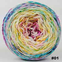 Knitcircus Yarns: Girls Run the World 100g Impressionist Gradient, Parasol, choose your cake, ready to ship yarn