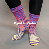 Knitcircus Yarns: Off to See the Wizard Extreme Striped Matching Socks Set, dyed to order yarn