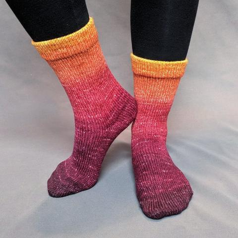 Leaf Pile Leap Panoramic Gradient Matching Socks Set (large), Greatest of Ease, ready to ship