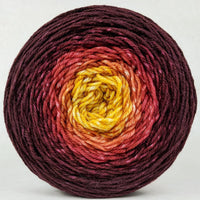 Knitcircus Yarns: Leaf Pile Leap 150g Panoramic Gradient, Divine, ready to ship yarn
