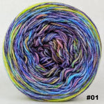 Knitcircus Yarns: Horse of a Different Color 100g Abstract, Opulence, choose your cake, ready to ship yarn
