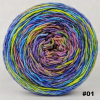 Knitcircus Yarns: Horse of a Different Color 100g Abstract, Greatest of Ease, choose your cake, ready to ship yarn