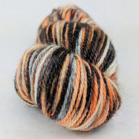 Knitcircus Yarns: Trick or Treat 100g Speckled Handpaint skein, Corriedale, ready to ship yarn - SALE