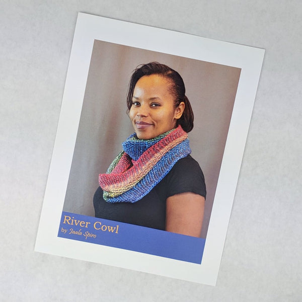 Pattern - River Cowl, by Jaala Spiro, ready to ship - SALE