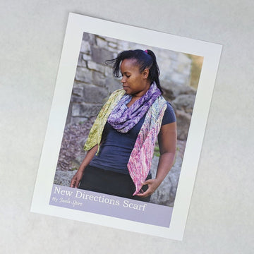 Pattern - New Directions Scarf, by Jaala Spiro, ready to ship