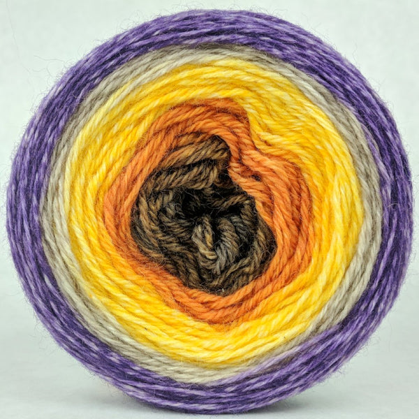 Knitcircus Yarns: Pumpkin to Talk About 100g Panoramic Gradient, Corriedale, ready to ship yarn - SALE