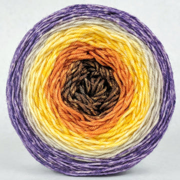 Knitcircus Yarns: Pumpkin to Talk About 150g Panoramic Gradient, Divine, ready to ship yarn