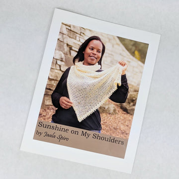 Pattern - Sunshine on My Shoulders Shawl, by Jaala Spiro, ready to ship - SALE