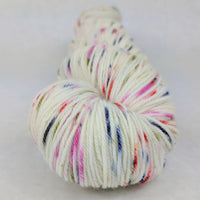 Knitcircus Yarns: Big Top Birthday 100g Speckled Handpaint skein, Greatest of Ease, ready to ship yarn