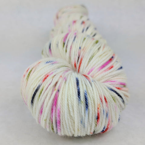 Big Top Birthday 100g Speckled Handpaint skein, Greatest of Ease, ready to ship