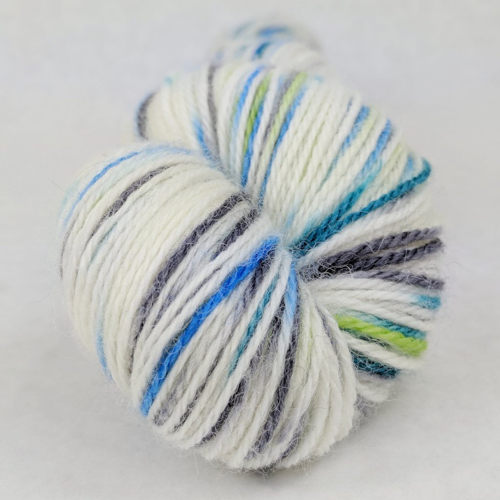 Growing Like a Weed 100g Speckled Handpaint skein, Corriedale, ready to ship