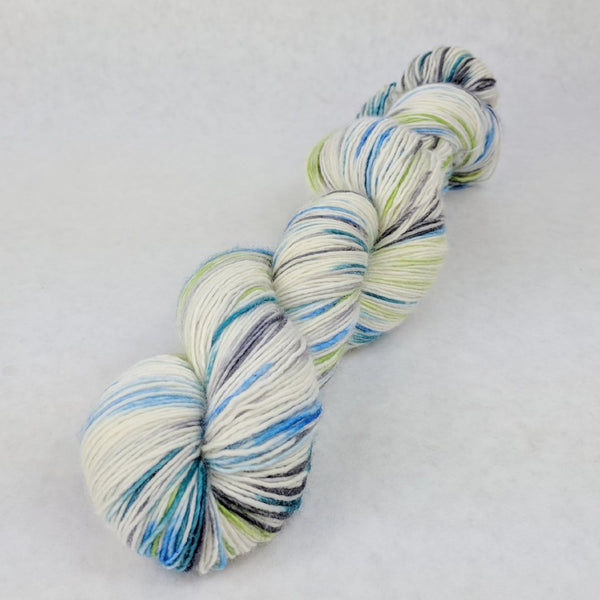 Knitcircus Yarns: Growing Like a Weed 100g Speckled Handpaint skein, Spectacular, ready to ship yarn