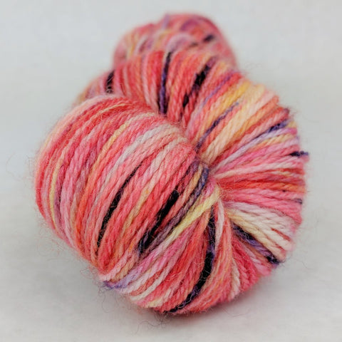Make Like a Tree 100g Speckled Handpaint skein, Corriedale, ready to ship