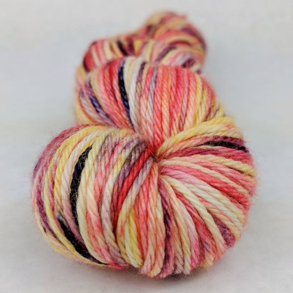 Knitcircus Yarns: Make Like a Tree 100g Speckled Handpaint skein, Ringmaster, ready to ship yarn