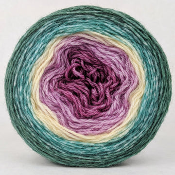 Knitcircus Yarns: Jingle Bells 100g Panoramic Gradient, Corriedale, ready to ship yarn - SALE