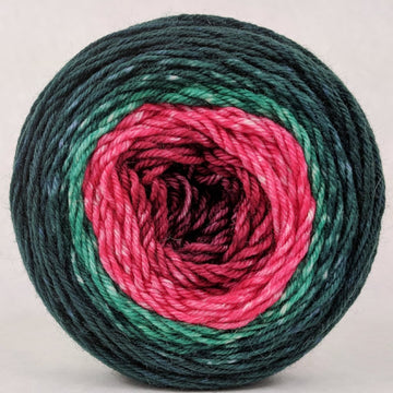 Knitcircus Yarns: Deck The Halls 100g Panoramic Gradient, Divine, ready to ship yarn