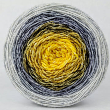 Knitcircus Yarns: Brass and Steam 100g Panoramic Gradient, Trampoline, ready to ship yarn