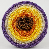 Knitcircus Yarns: Pumpkin to Talk About 100g Panoramic Gradient, Trampoline, ready to ship yarn