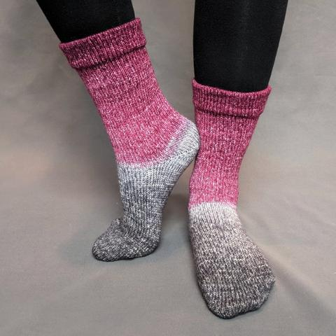 What Happens At Knit Night... Panoramic Gradient Matching Socks Set (large), Greatest of Ease, ready to ship