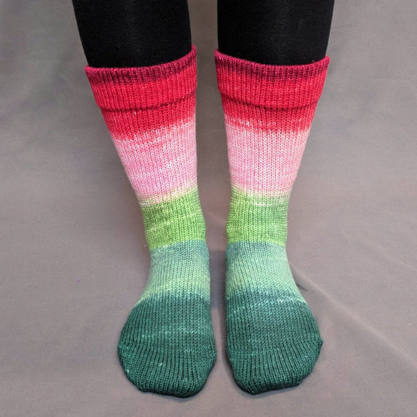 Knitcircus Yarns: Watermelon Panoramic Gradient Matching Socks Set, dyed to order yarn